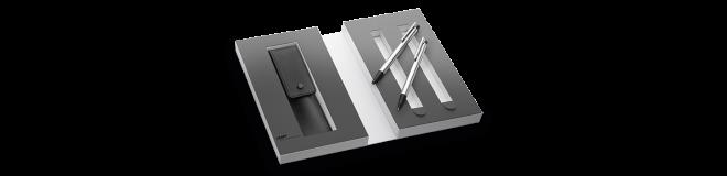 LAMY logo matt Set Kugelschreiber / Druckbleistift mit Lederetui 105/205