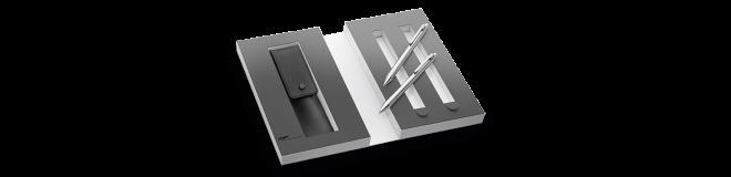 LAMY econ Set Druckbleistift / Kugelschreiber mit Lederetui